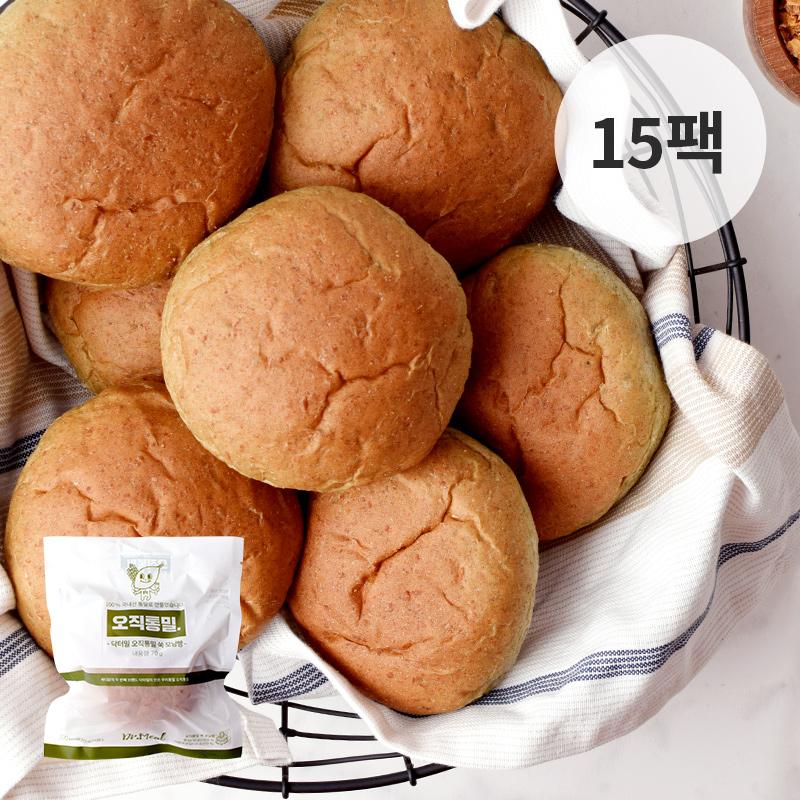 [무료배송] [바디닭] 닥터밀 오직통밀 쑥모닝빵 15팩