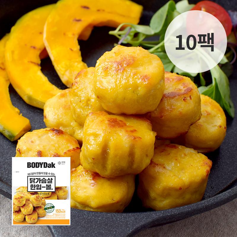 [무료배송] [바디닭] 단호박 닭가슴살 볼 10팩