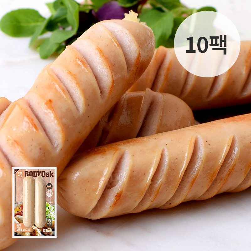 [무료배송] [바디닭] 오리지날 닭가슴살 소시지 10팩