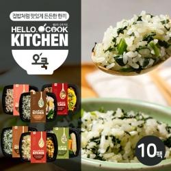 [무료배송] [오쿡] 나물밥 혼합 6종 도시락 (10팩)