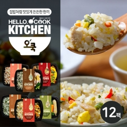[무료배송] [오쿡] 나물밥 혼합 6종 도시락 (12팩)